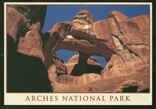 24X Postcard of Skull Arch, Arches National Park