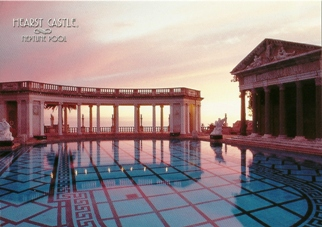 21x Postcard of Neptune Pool at Dusk Hearst Castle