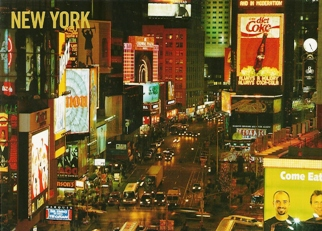 22x Postcard Times Square and the Theater District NEW YORK
