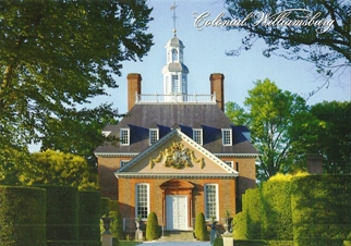 26x Postcard Of The Governor's Palace Colonial Williamsburg