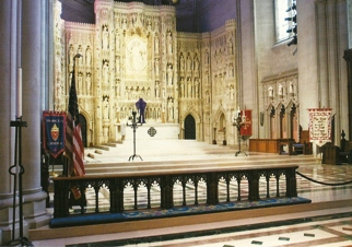 Postcard of the High Altar Washington National Cathedral