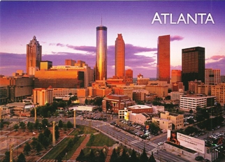 21x Postcard Of ATLANTA Georgia