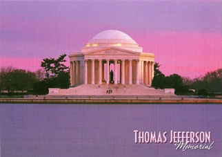 27x POSTCARD THOMAS JEFFERSON MEMORIAL WASHINGTON, D.C.
