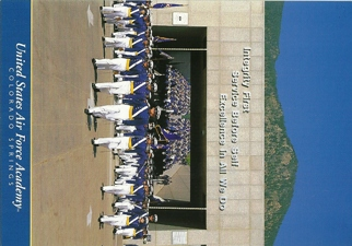 31x Postcard of U.S. Air Force Academy Cadet Chapel Wing on para