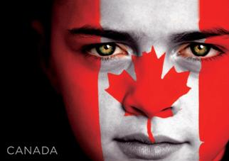 24 (2 Dozen OF The Same Design) Postcard of CANADA Flag Face
