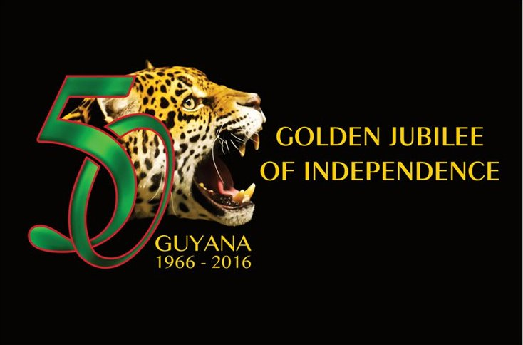 Postcard of Guyana's Golden Jubilee of Independence-Black