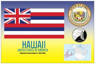 12 (1 Dozen OF The Same Design) Postcard of HAWAII - United Stat