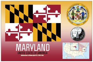 Postcard of MARYLAND - United States of America