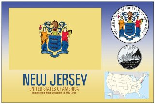12 (1 Dozen OF The Same Design) Postcard of NEW JERSEY- United S