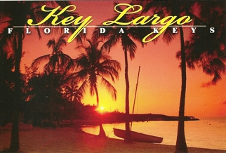 21x Postcard A Breathtaking Sunset On A Key Largo Beach ( With R