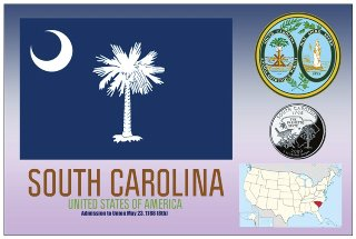 12 (1 Dozen OF The Same Design) Postcard of SOUTH CAROLINA- Unit