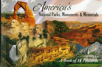 A Book of 33 Postcards America's National Parks, Monuments & Mem